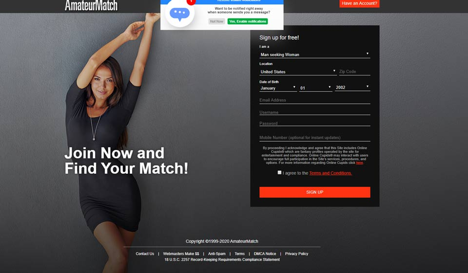AmateurMatch Review – Pool of Opportunities or Scam?